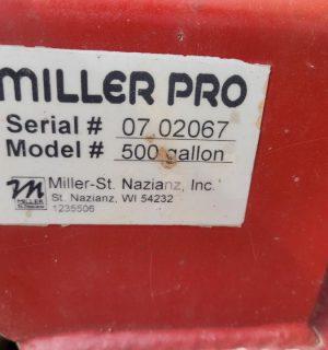 Miller Pro 500 Gallon Sprayer